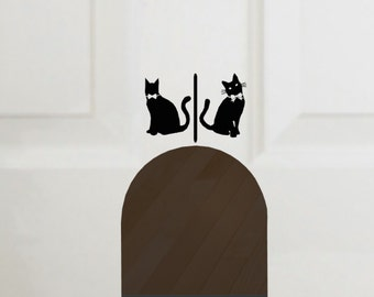 Cat Door Vinyl Decal, Litterbox decal Decal