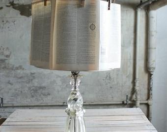 Vintage Glass Lamp Base