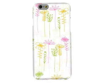 Wildflowers Floral Phone Case, mobile, cell phone accessory, iphone 5, SE, 6, 6s, 7, 8 Samsung S5, S6, S7, S8, spring, nature, gifts