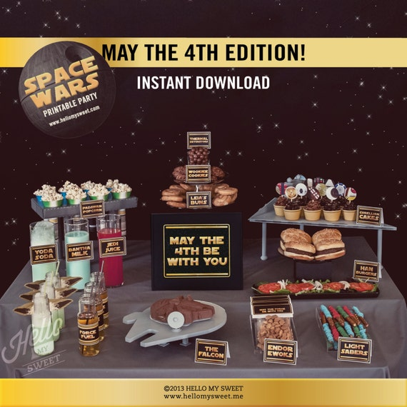 May The 4th Be With You Dog: Star Wars May The 4th Be With You Party Set INSTANT DOWNLOAD