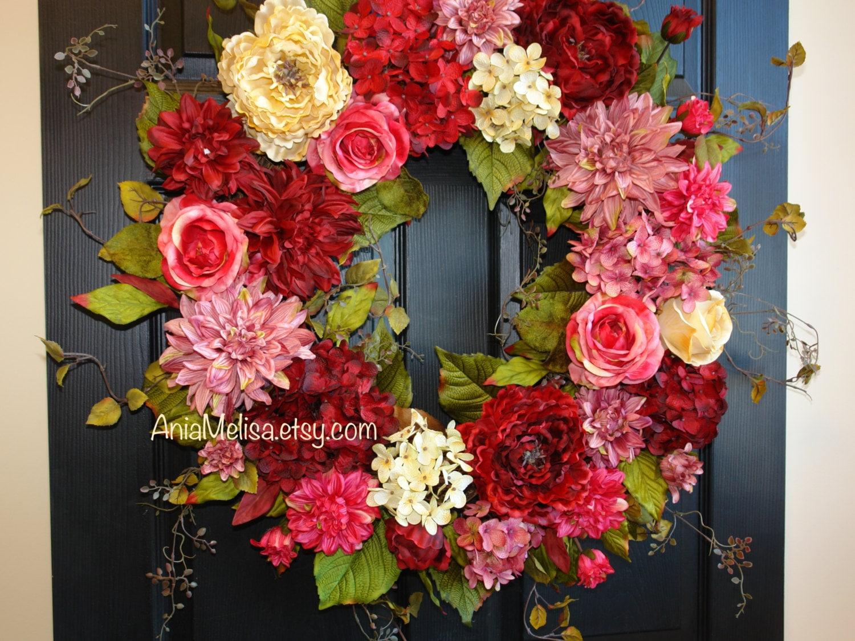Spring wreath mothers day wreaths for front door wreaths zoom rubansaba