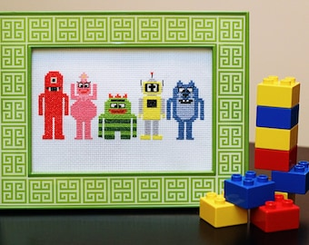 Yo Gabba Gabba Cross Stitch Pattern DOWNLOAD