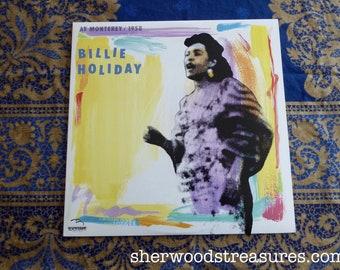 Billie Holiday At Monterrey 1958 Vinyl Lp RECORD  NM- Jazz Excellent Monterey Jazz Festival