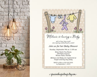 Bunny Baby Shower Invitation, Baby Sprinkle Invitation, Gender Neutral Baby Shower, Sip and See Invite, Mom-to-Be Shower, Rustic, Boy, Girl