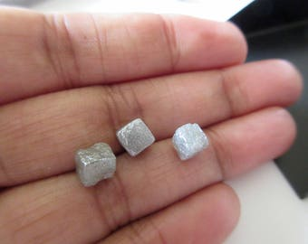 1 Piece 5.5mm Natural Diamond Cube, Loose Rough Diamond, Raw Diamond Box, Uncut Box Diamond, DDS443/1