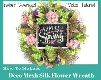 Spring flower wreath etsy how to make spring wreaths video decorative spring wreaths for front door spring wreaths diy spring wreaths spring wreath tutorial mightylinksfo
