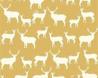 14.50 a Yard Organic COTTON-  Elk Grove- Elk Family Sun