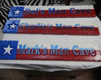 Man Cave Sign, Wooden Signs, Carved Signs, Cedar Signs, House Signs, Decorative Signs, Permament Signs, Reflective Signs,