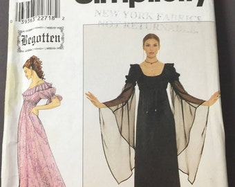 "Halloween costume sewing pattern Simplicity 8619 18th Century gown from the movie ""Begotten"""