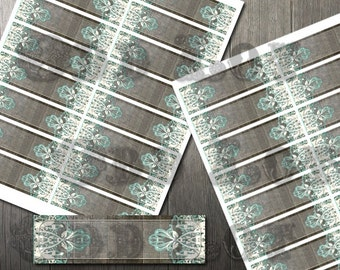 Rustic Turquoise Address Label DIY Avery Labels for Printing Yourself Country Rustic Wedding Printable Return Address Label Digital File