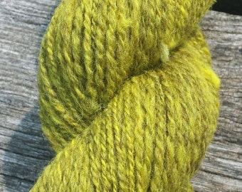 Yellow Jacobs wool yarn