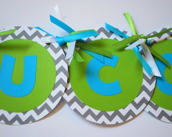 Chevron High Chair Banner - Choose Your Colors