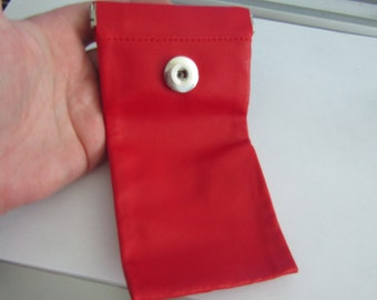 eyeglass case, with pressure support, for pressure 18 / 20mm, red