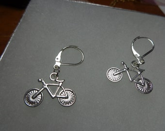 Bicycle earrings , Bicycle Gift, Bicycle Jewelry , sterling silver bicycle earrings,tiny  bicycle earrings, silver bicycle earrings