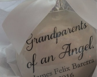 Infant Loss Memorial Ornament Sympathy Gift Ornament Miscarriage Keepsake Bereavement Loss of Grandchild Grandparents of an Angel Bauble