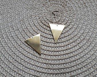 Large sequin Golden brass triangle pendant