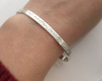 First My Mother, Forever My Friend - Mother Gift - Mom gift from Daughter - Mother of the Bride - Mother Bracelet - Silver Cuff Bracelet