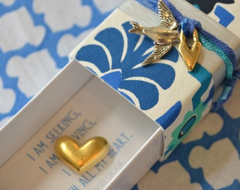 Seeking and Striving Message Box/Gift Box with fabric gift bag