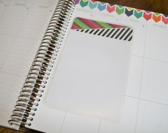 Dashboard (Size A), Coil Clip In, Laminated, Double Sided  / Erin Condren Life Planner, Limelife, Plum Paper (A04)