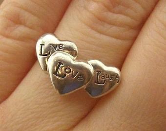 Vintage Sterling Silver Live-Laugh-Love Ring