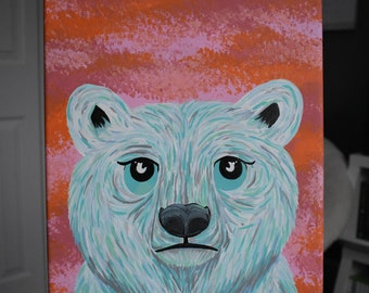Blue Polar Bear Painting