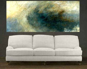 Seascape Painting, Ocean Surf, Extra Large, Oil Painting Colorful Artwork, Wall Art, Large Wall Decor, Home Decor, Office Decor