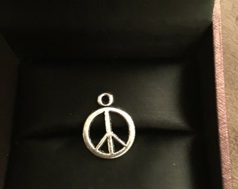 Peace Sign Charm 2 Pcs