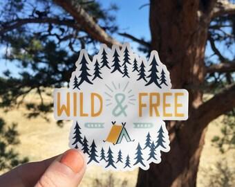 Wild And Free Illustration   Vinyl Sticker Design