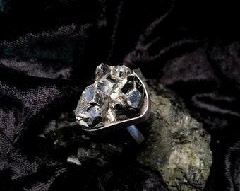 Deneb Pyrite Sterling Silver Ring