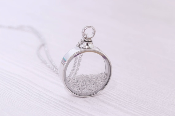 Stainless memorial glass locket pendant cremation jewelry aloadofball Image collections