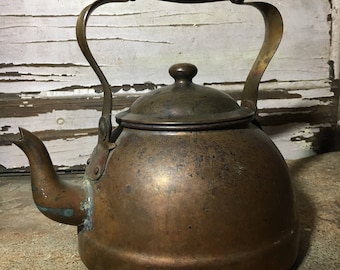 Copper Teapot Kettle from Portugal    118-2