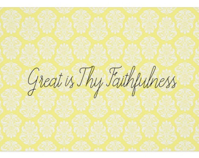 """Greeting Card """"Great is Thy Faithfulness"""""""