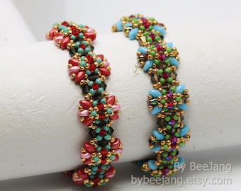 PDF Tutorial - Escha Bracelet Beading Pattern Instant download Beadweaving Instruction