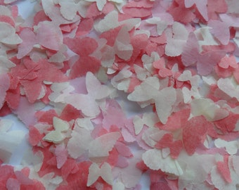 Coral Blush Mix Butterfly Biodegradable Tissue Paper Confetti Wedding Party