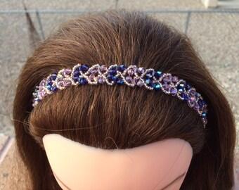 Crystal Beaded Headband - B-pp