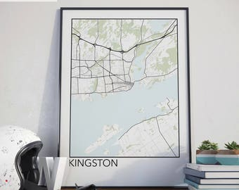Kingston, Ontario Minimalist City Map Print