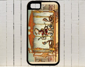 This Snake Charmer Poster Advertised A Traveling Circus for i Phone Case 4, 4s, 5, 5C, 6, 6+ and Samsung Galaxy