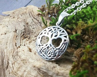 Tree of Life Family Tree Pendant 925 Sterling Silver Necklace Gift Mom