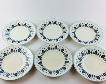 Set of 6 Stetson Marcrest Swiss Alpine saucers