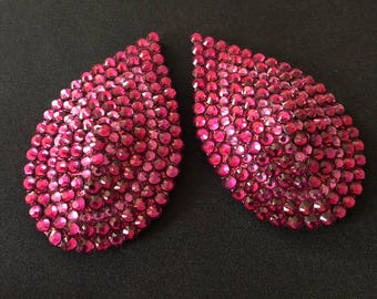 Fuchsia Tear Drop Burlesque Pasties