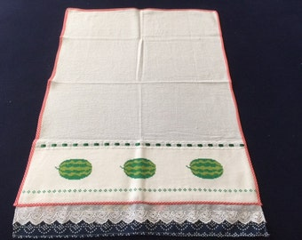 Kitchen Towel with a Watermelon Design