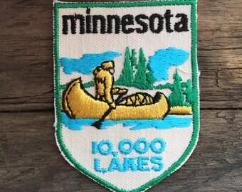 Minnesota Vintage Souvenir Travel Patch by Voyager
