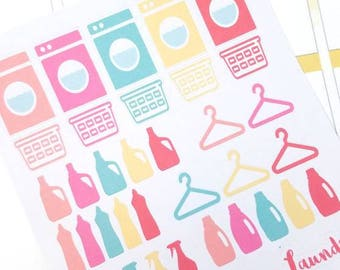 SALE! Laundry and cleaning planner stickers - Erin Condren - Happy Planner - Christmas Gift