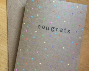 Congrats Cards // Set of 4 // Greeting Cards // Congratulations