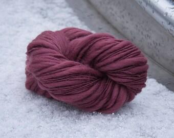 handspun rosewood merino wool