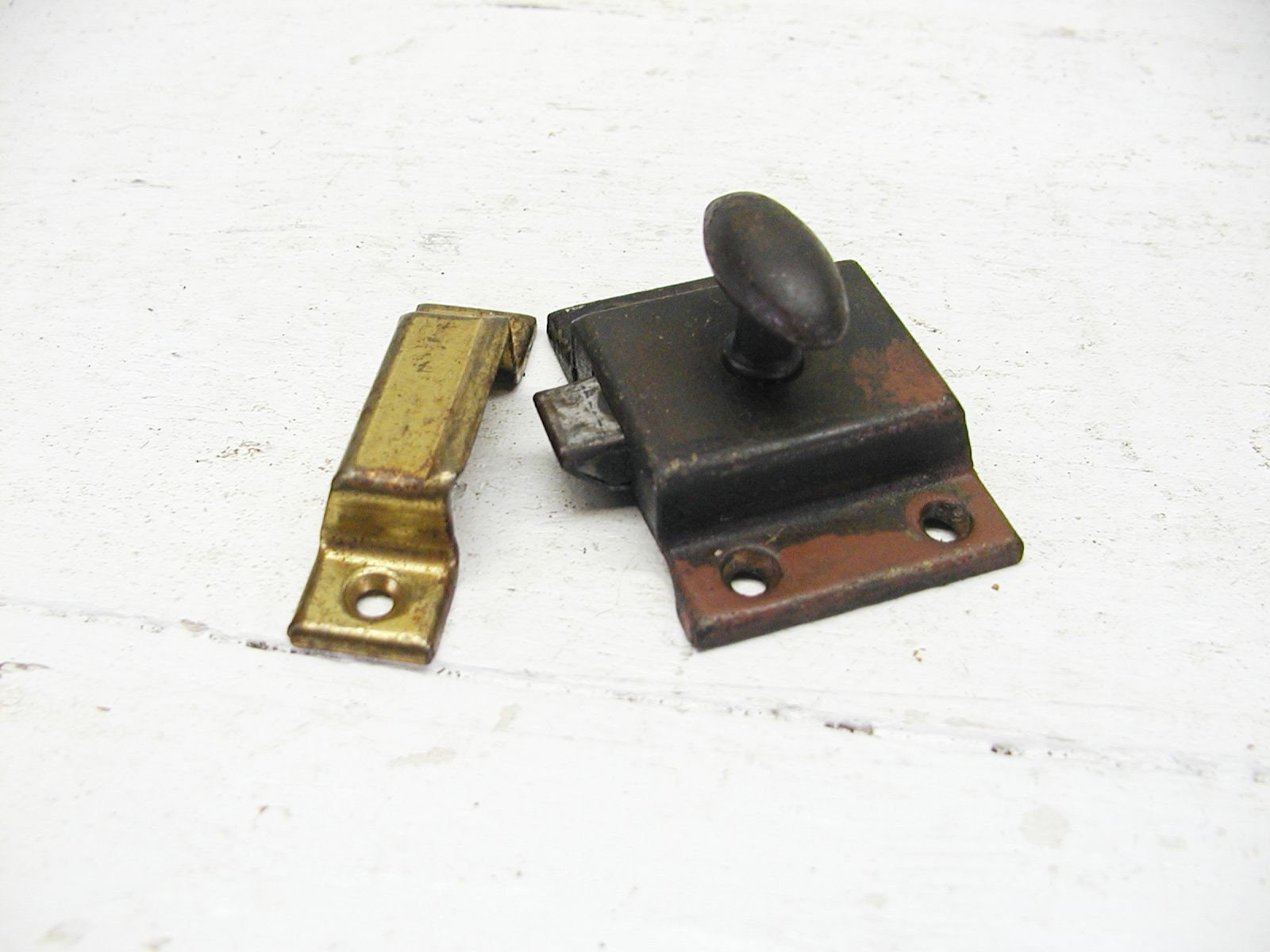 vintage campervan ebay latch cupboard stock pin button aluminium press catch old