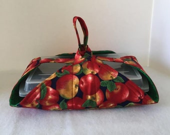 Thermal, Insulated, Casserole Carrier with Apples