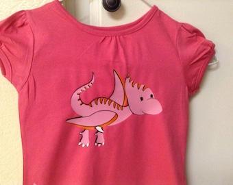 Girl's dinosaur shirt