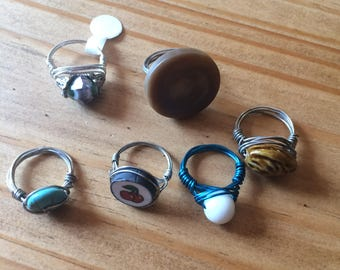 Size 7 wire wrapped rings