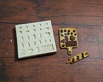 Mold/ mould Dollhouse Miniature 1/12 Chocolate Japanese Style